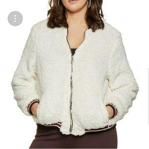 Jackets & Blazers - Plus size sherpa jacket